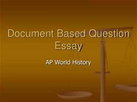Past ap world history essay questions
